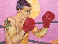 ' Ronnie '  2008  oil & tempera on canvas  150 x 180 cm