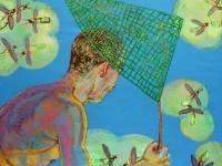 ' Catcher II '  2008  oil & tempera on canvas  150 x 180 cm
