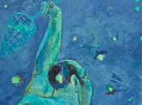 ' Catcher I '  2005  oil & tempera on canvas  135 x 150 cm