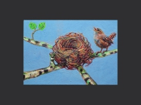 ' Nest '     2012 oil & tempera on canvas 53 x 76 cm