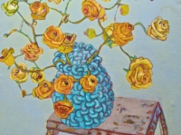 ' Yellow Roses '   2008 oil & tempera on canvas 140 x 170 cm